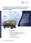 Mobile liquid oxygen storage tank