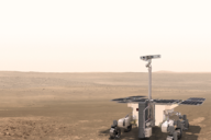 the rover exomars on the planet mars