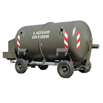 Mobile liquid oxygen storage tank & purging unit