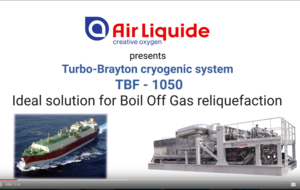 Turbo-Brayton-1050 for LNG carrier
