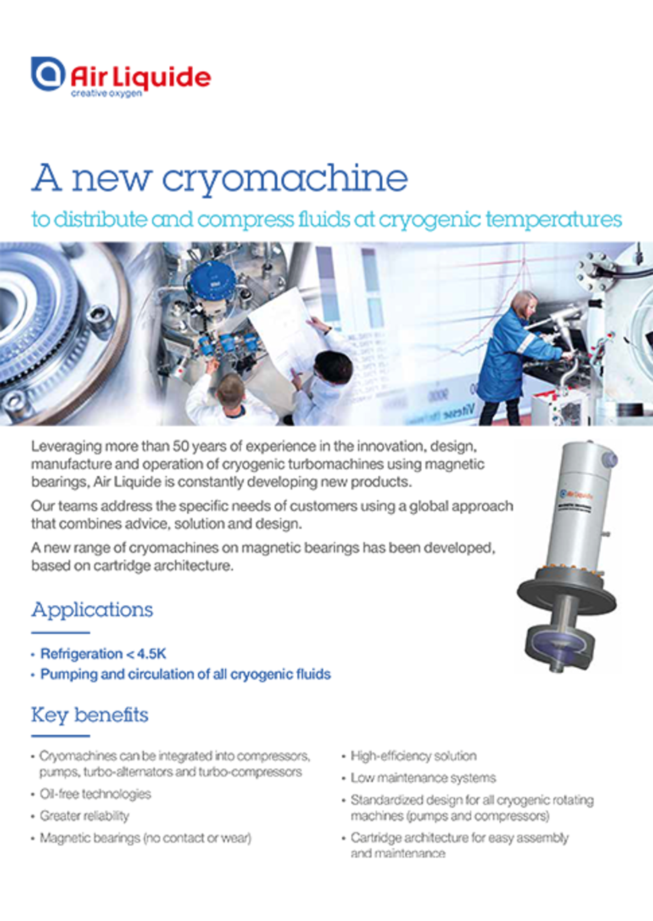 a new cryomachine brochure cover