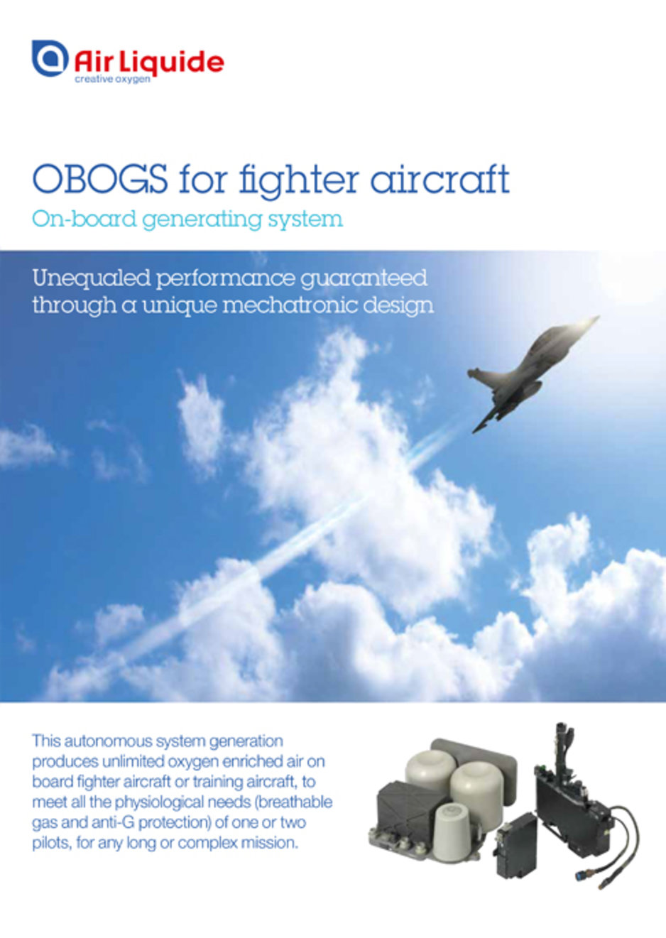 On board gas generating system for military aerospace